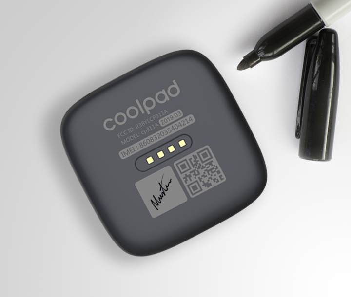 SAFETY  Never Lost Easily manage multiple Trackers by marking individual names or initials